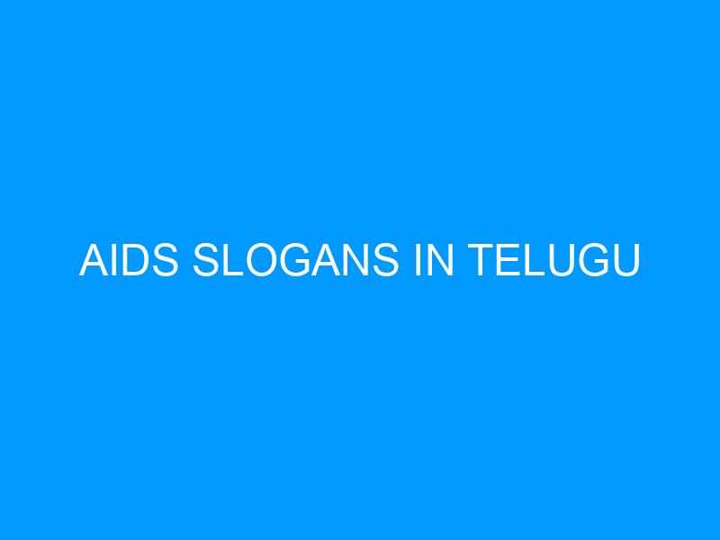 Aids Slogans In Telugu